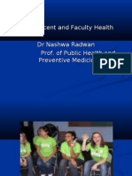 Adolescent and faculty health