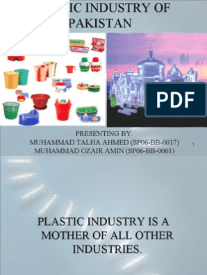 Plastic Industry of Pakistan | Plastic | Thermoplastic