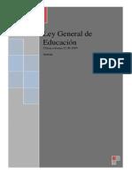 Ley Gral de Educacion