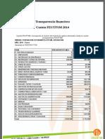 Cuenta Feutfsm Enero a Mayo 2014