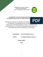 Anteproyecto Tesis Doctoral Wilmer