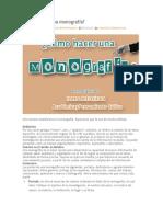 Cómo Hacer Una Monografía