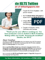 Jonathan's Private IELTS Tuition Brochure