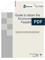 Guide to Obtain the Environmental Feasibility - October 2012