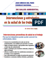 Intervenciones y Estrategia en La Salud de Los Trabajadores