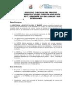 Proyecto Educativo Curicular Del Proceso Académico