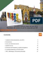 GfK, Encuesta Nacional Urbana, Junio 2014