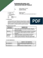 Programación Anual 2014 Vidal