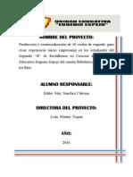Proyecto Produccion y Comercializacion de Pollos