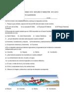 Examen de La Entidad Donde Vivo 3er Año 5º Bimestre 2013 Brigido