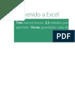 Bienvenido a Excel1