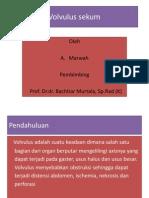 Volvulus Sekum - A. Marwah (PP)