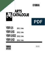 yamaha ybr 125G parts catalogue