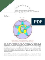 Hexagrama y La Letra g
