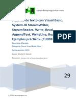 CU00329A-2 System.io StreamReader StreamWriter ReadLine WriteLine