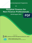 Hospital Finance for Non Finance Professionals