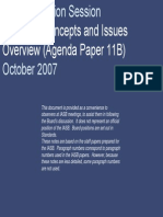 Valuation Concepts and Issues (IASB 2007)