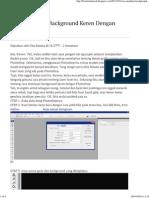 Cara Membuat Background Keren Dengan 28.HTML