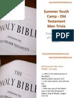 Summer Youth Camp - Old Testament Men Trivia