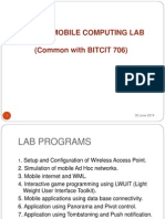 BICCIC706-Mobile Computing Lab
