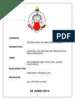 Informe de Acidez Total de Acido Sulfurico - Copia