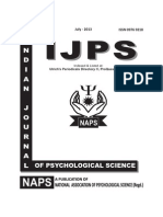 INDIAN JOURNAL OF PSYCHOLOGICAL SCIENCE, JULY-2013
