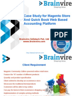Case Study for Magento Store And Quick Book Web Based Accounting Platform