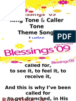 Blessings '09 Lyrics of Theme song Caller and Ring tone