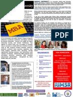 MBA from Brenau University, Georgia USA