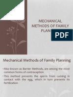 Mechanical Methods of Family Planning