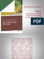 Los Traductores Del Arba Presentación, Fernando Ezquerra Lapetra