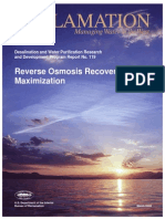 Reverse Osmosis Recovery Maximization