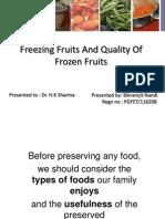 freezing of fruits