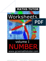 Free E-Book 'Worksheets'  Vol. #1  'Number'  from GCSE Maths Tutor