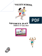 Sports Day Programme 2014