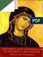 Ioan Maximovici - Cinstirea Maicii Domnului