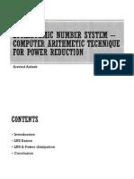 LNS-Low Power IC Design