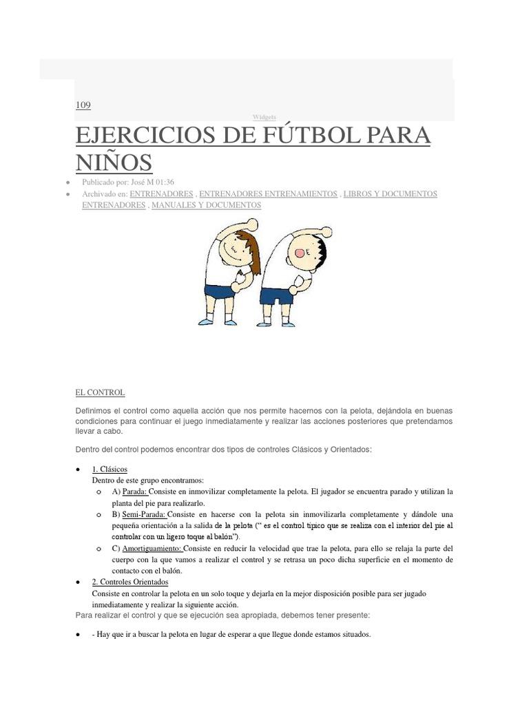 Ejercicios Futbol