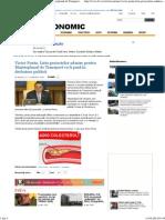 Victor Ponta_ Lista Proiectelor Admise Pentru Masterplanul de Transport Va Fi Pusă În Dezbatere Publică