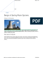 Design of Cooling Water Systems