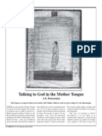 Talking to God in Mother Tongue