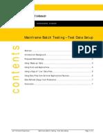 Mainframe Batch Testing-Test Data Setup