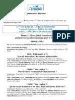154 - CP sélection prix du livre d économie 2009