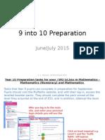 9 Into 10 Preparation 2014 Update