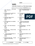 Esl Topics Quiz Possessive Adj Pronouns