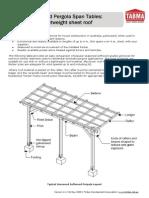 TABMA Technical Note 3 - Pergola Span Tables