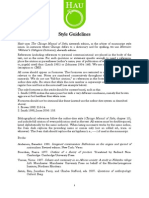 HAU Style Guidelines 2014