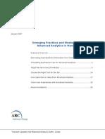 ARC Advanced Analytics Manufacturing