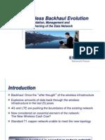 Emerson Wireless Backhaul Evolution OSP Expo 2011