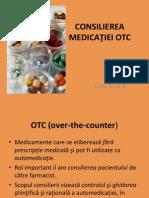 Consilierea medicatiei OTC